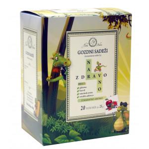 Aromatiziran sadni čaj Naravno zdravo, okus gozdnih sadežev
