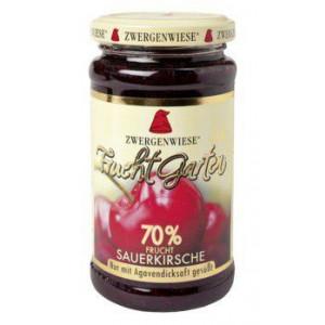 Višnjeva marmelada, slajena z agavinimi sirupom, 70% sadni delež