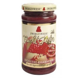 Jagodna marmelada z rabarbaro, slajena z agavinim sirupom, 70% sadni delež