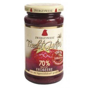 Jagodna marmelada, slajena z agavinim sirupom, 70% sadni delež