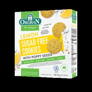 Piškoti z limono in makom, brez dodanega sladkorja