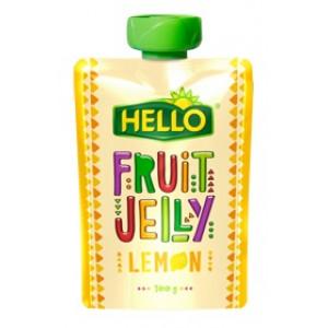 Sadni žele z okusom limone