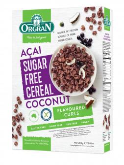 Kosmiči z açai jagodami in kokosom, brez dodanega sladkorja