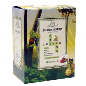 Aromatiziran sadni čaj Naravno zdravo, okus jagode in vanilje