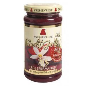 Jagodna marmelada z vaniljo, slajena z agavinim sirupom, 70% sadni delež