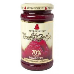 Malinova marmelada, slajena z agavinim sirupom, 70% sadni delež