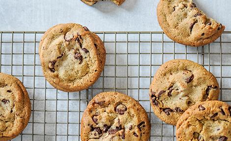 Piškoti s koščki čokolade, brez glutena