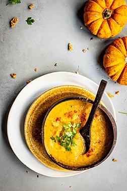 Kremna juha iz pečenih buč