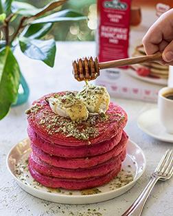 Roza veganske palačinke